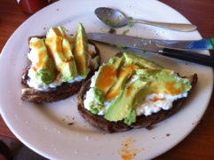 Toast with Cottage Cheese and Avocado